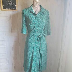 Laundry by Shelli Segal shirt dress button down 10